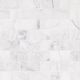 Calacatta+Cressa+Honed+3+x+6+Marble+Subway+Tile+in+White