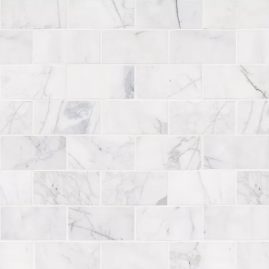 Calacatta+Cressa+Honed+3+x+6+Marble+Subway+Tile+in+White